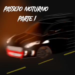 Carro preto em movimento numa rua escura. O pára-choque dianteiro está manchado de vermelho.