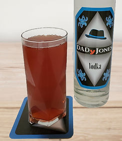 cocktail called vod'ale with bottle of DADyJones vodka