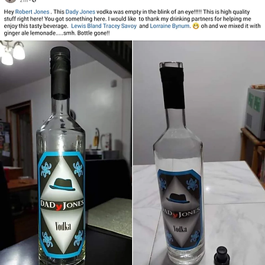 Two bottles, closed and empty