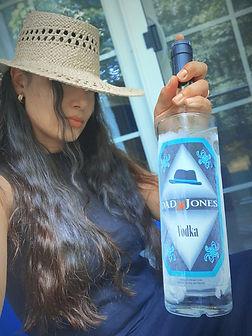 Krissy holding bottle