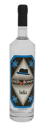 bottle of DADyJones vodka