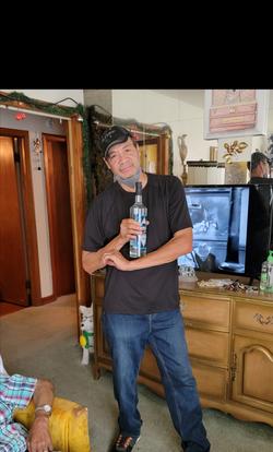 MR. CLYDE bottle on arm