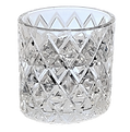 clear GLASS with ice and liquid