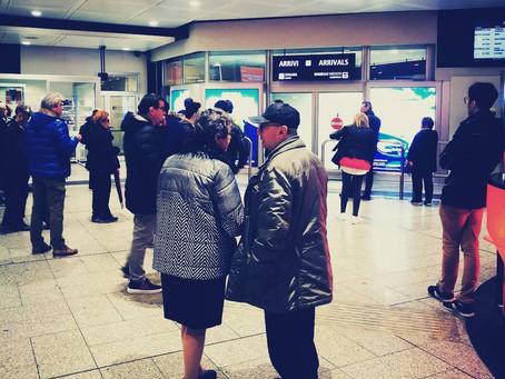 Gli arrivi di un aeroporto