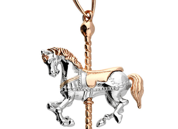 Sterling Silver Carousel Horse Necklace