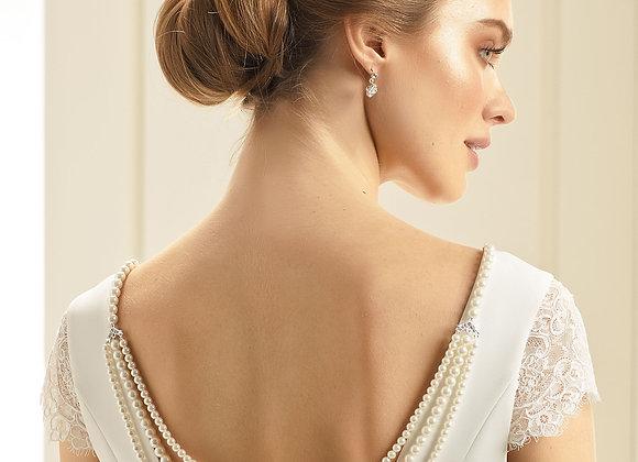 San Francisco - Pearl Bridal Back Necklace