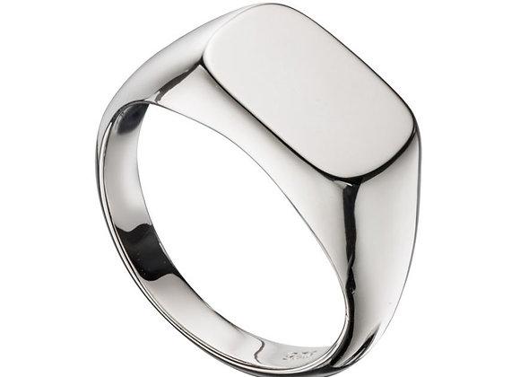 Rectangular Engravable Signet Ring