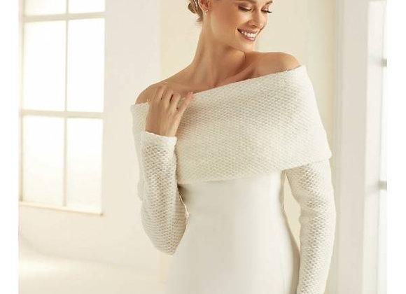 New York - Ivory Off the Shoulder Bridal Shrug