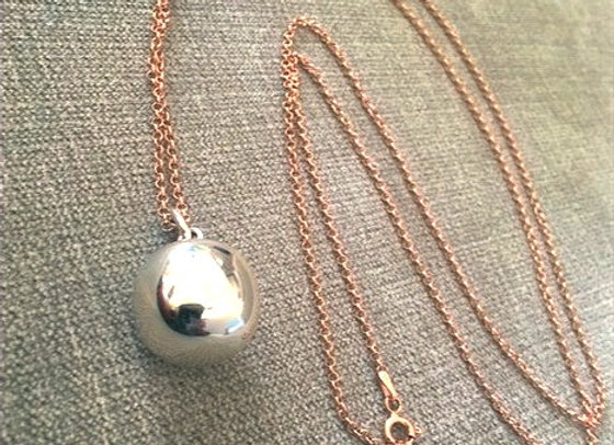 Pregnancy Ball with long Rose Gold Chain