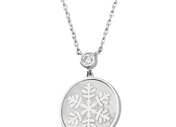 Snowflake Mother of Pearl Necklace