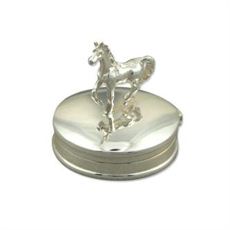 Sterling Silver Horse Gift Pill Box