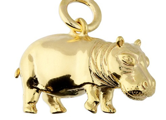 Hippopotamus Necklace (Chain included)