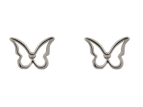 Delicate Silver Butterfly Studs