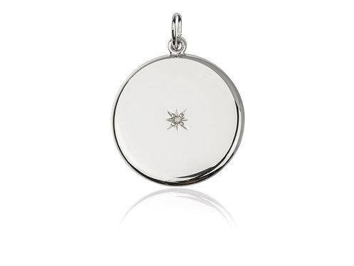 Contemporary Silver Locket