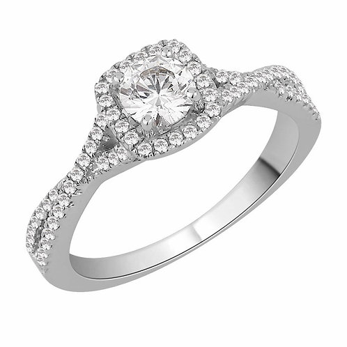 COMING SOON - Twisted Diamond Halo Ring