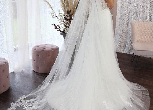 Florence - Floral Lace Veil