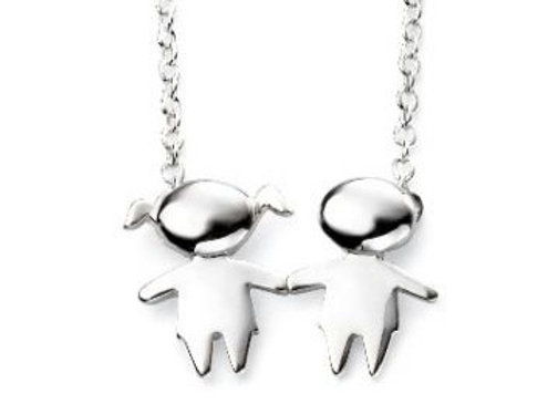 Girl and Boy Necklace