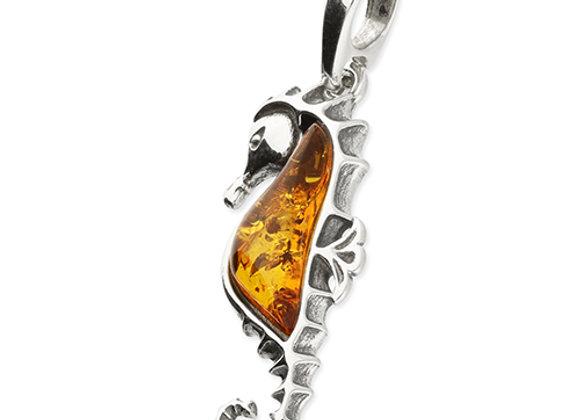 Cognac Amber Seahorse