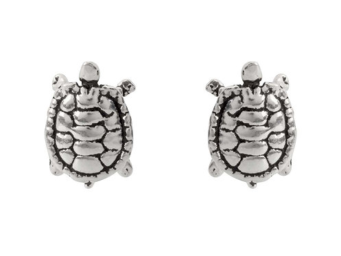 Sterling Silver Turtle Studs