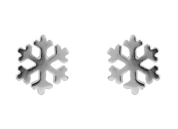 Sterling Silver Snowflake Studs