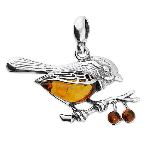 Amber Robin and Berries