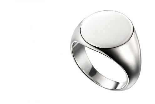 Round Engravable Signet Ring