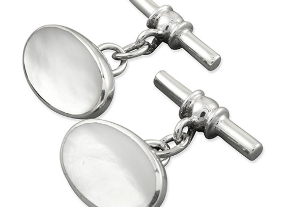 Mother of Pearl Oval Cufflinks