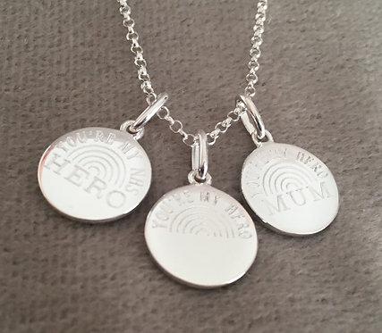 THANK YOU HERO - NHS pendant (no chain)