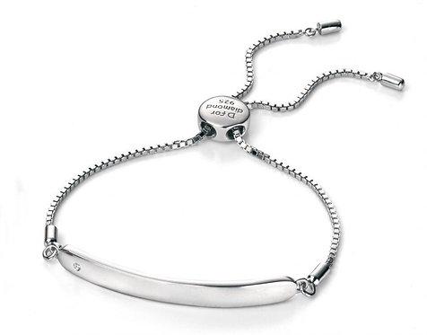 Diamond & Sterling Silver Baby Bracelet