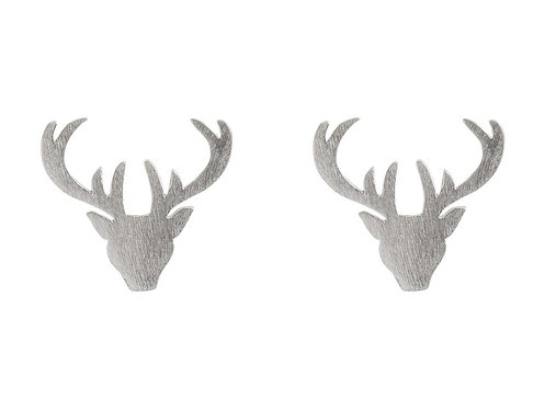 Sterling Silver Stag Studs