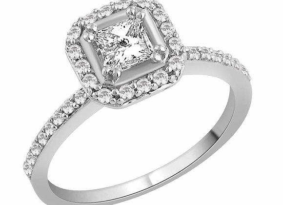 COMING SOON - 0.80ct Diamond Halo Ring