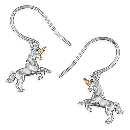 Silver and Gold Unicorn Earrings