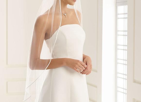 Rome - satin edge 110 cm veil