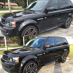 Before and after! Hand washed and hand waxed!