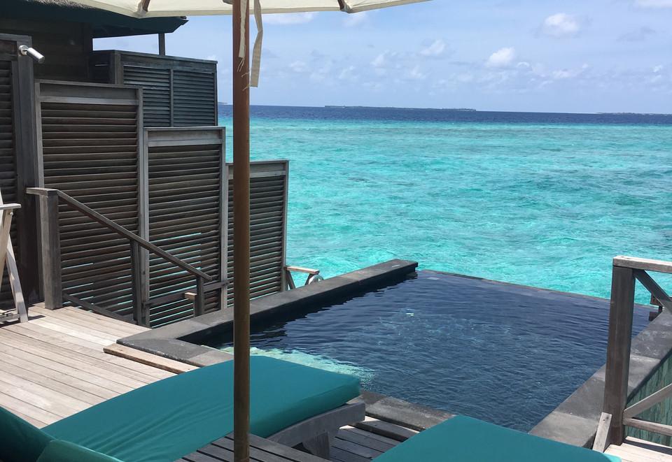 Private deck and plunge pool at JA Manafaru