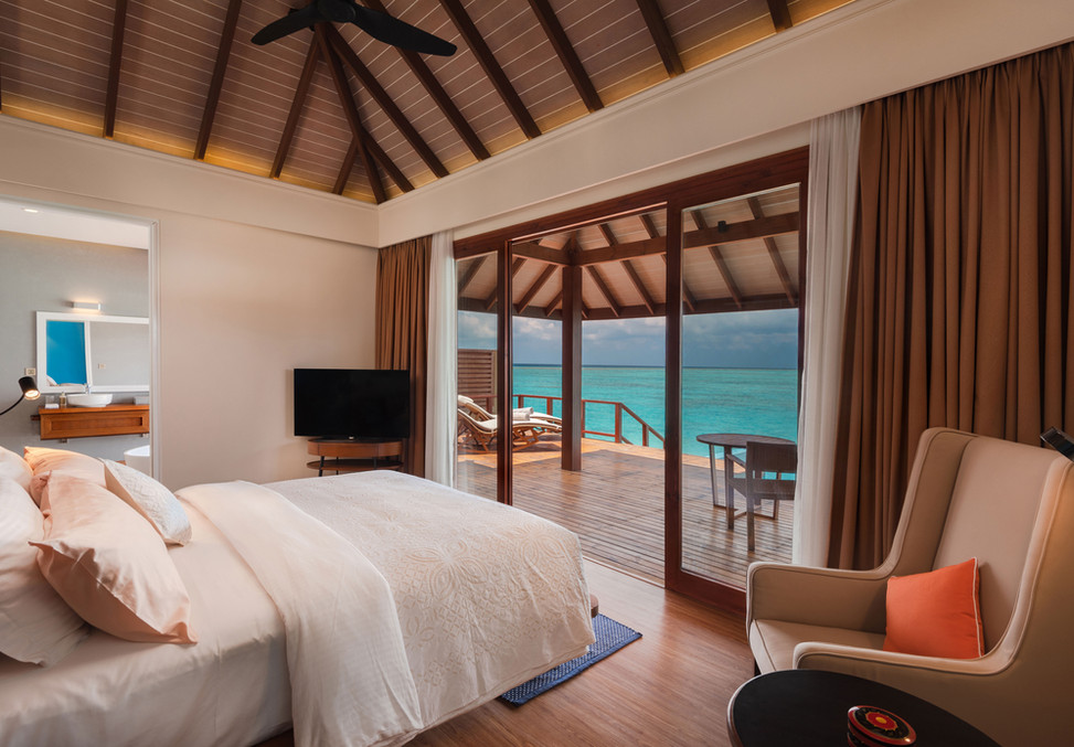 Water-Villa-with-Pool---Bedroom-View---V