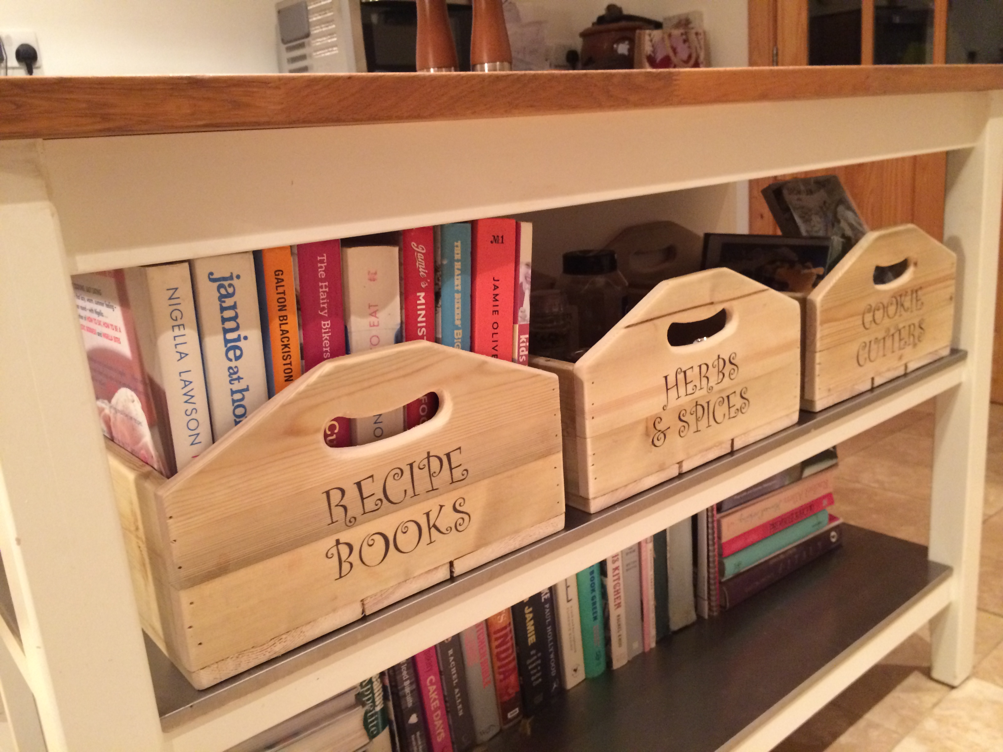 HELLY BOXES IN IKEA KITCHEN ISLAND