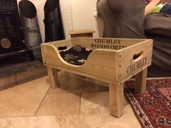 FISH BOX AS RAISED DOG BED
