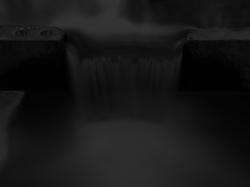 Long exposure stream of water