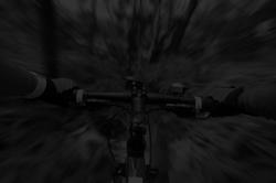 Blurred bike first person