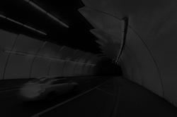 Car in tunnel