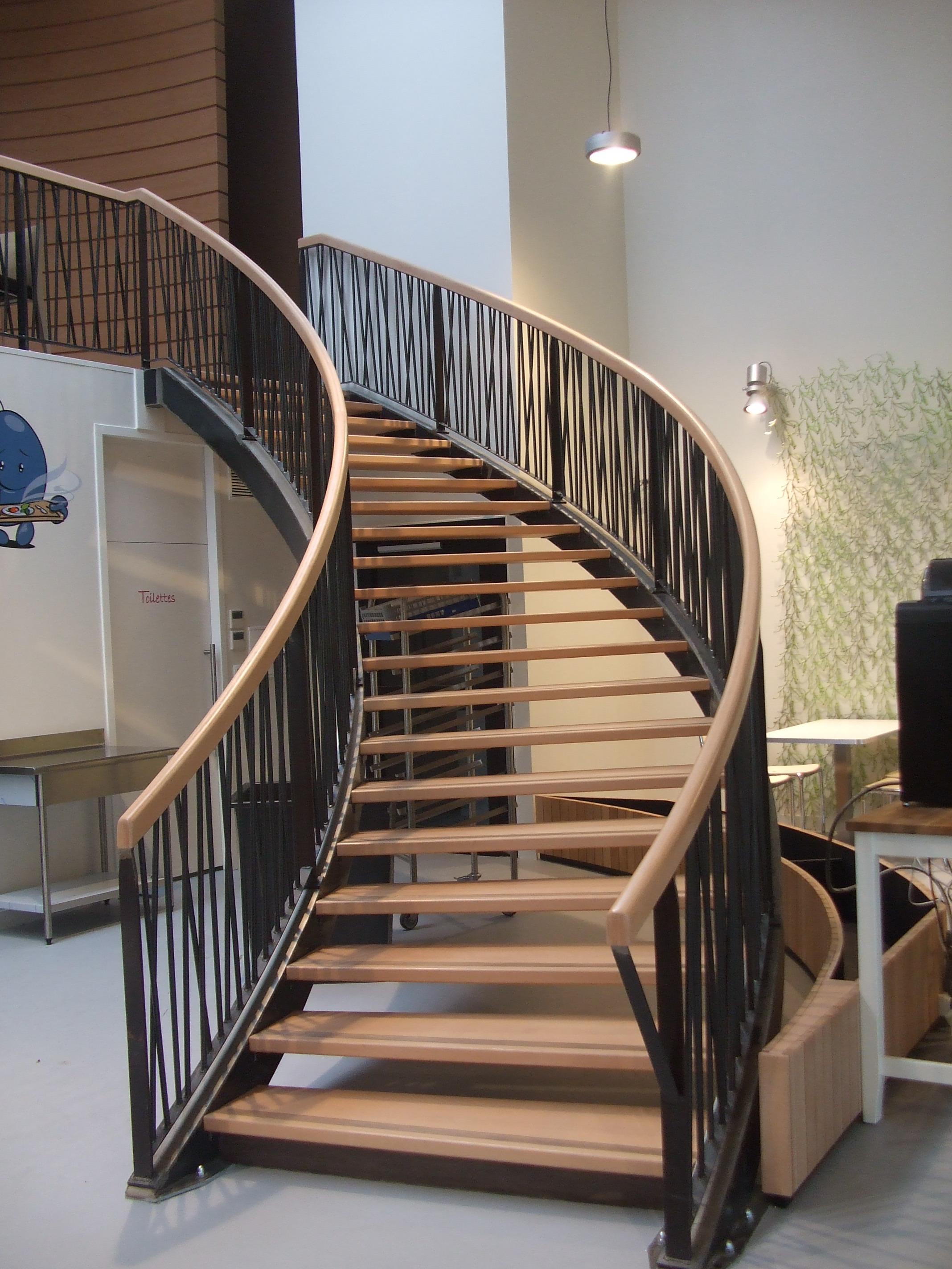 Escalier en courbe