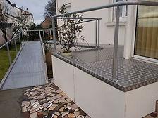 Accessibilité Mobilité Intérieur Extérieur Handicap Brico illico A.M.I.E aménagement travaux Morbihan Bretagne Desdouets jardin terrasse rampe