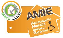 Logo Brico illico petits travaux A.M.I.E handicap aménagement personnes mobilité réduite travaux Morbihan Bretagne devis