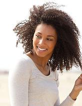 Smiling Curly Black Women