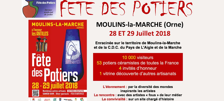 Marché de potier Moulins la marche