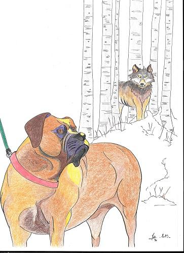 le loup et le chien (fable)
