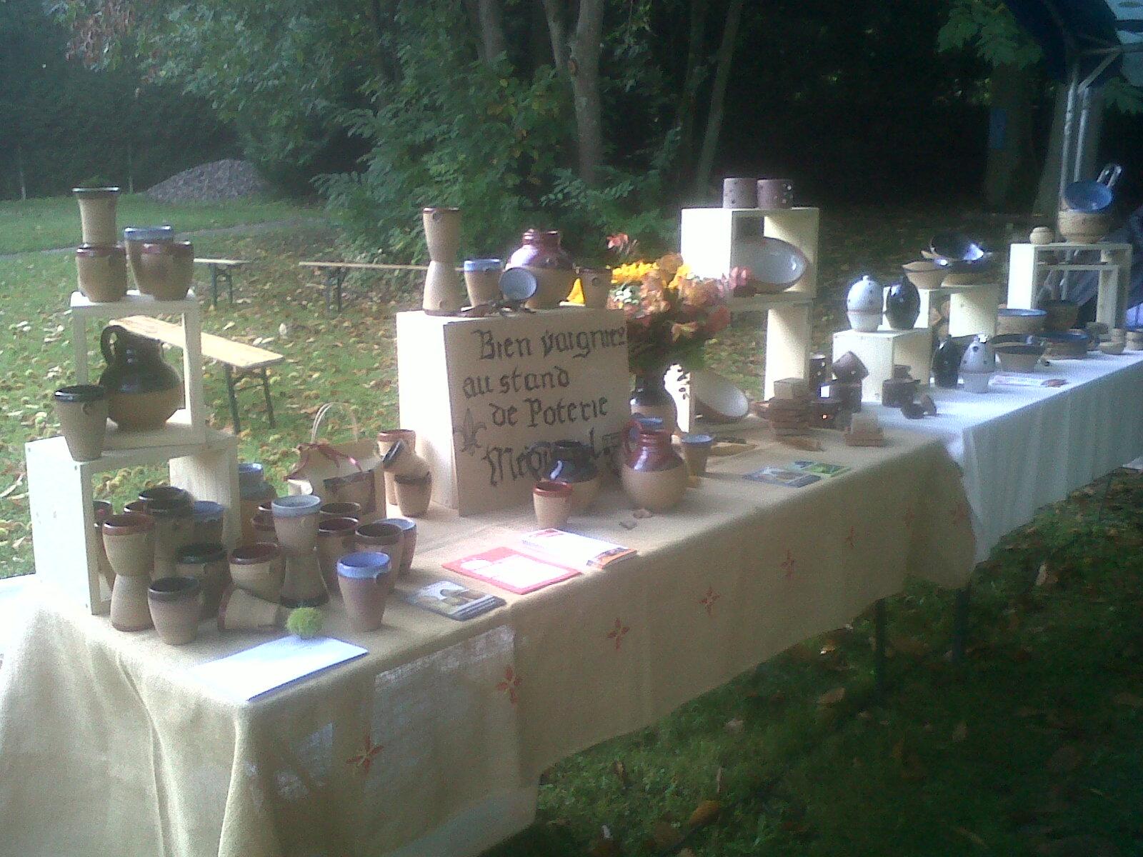 Stand de poterie Médiévale