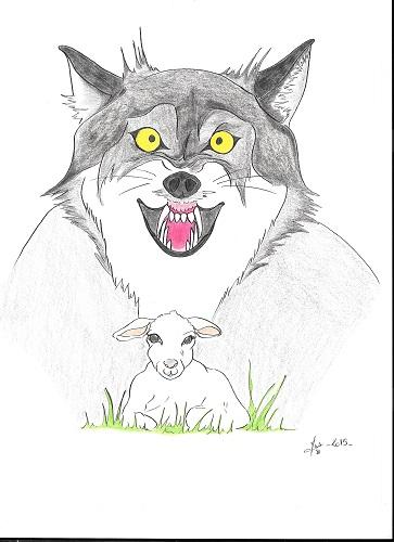 le loup et l'agneau (fable)