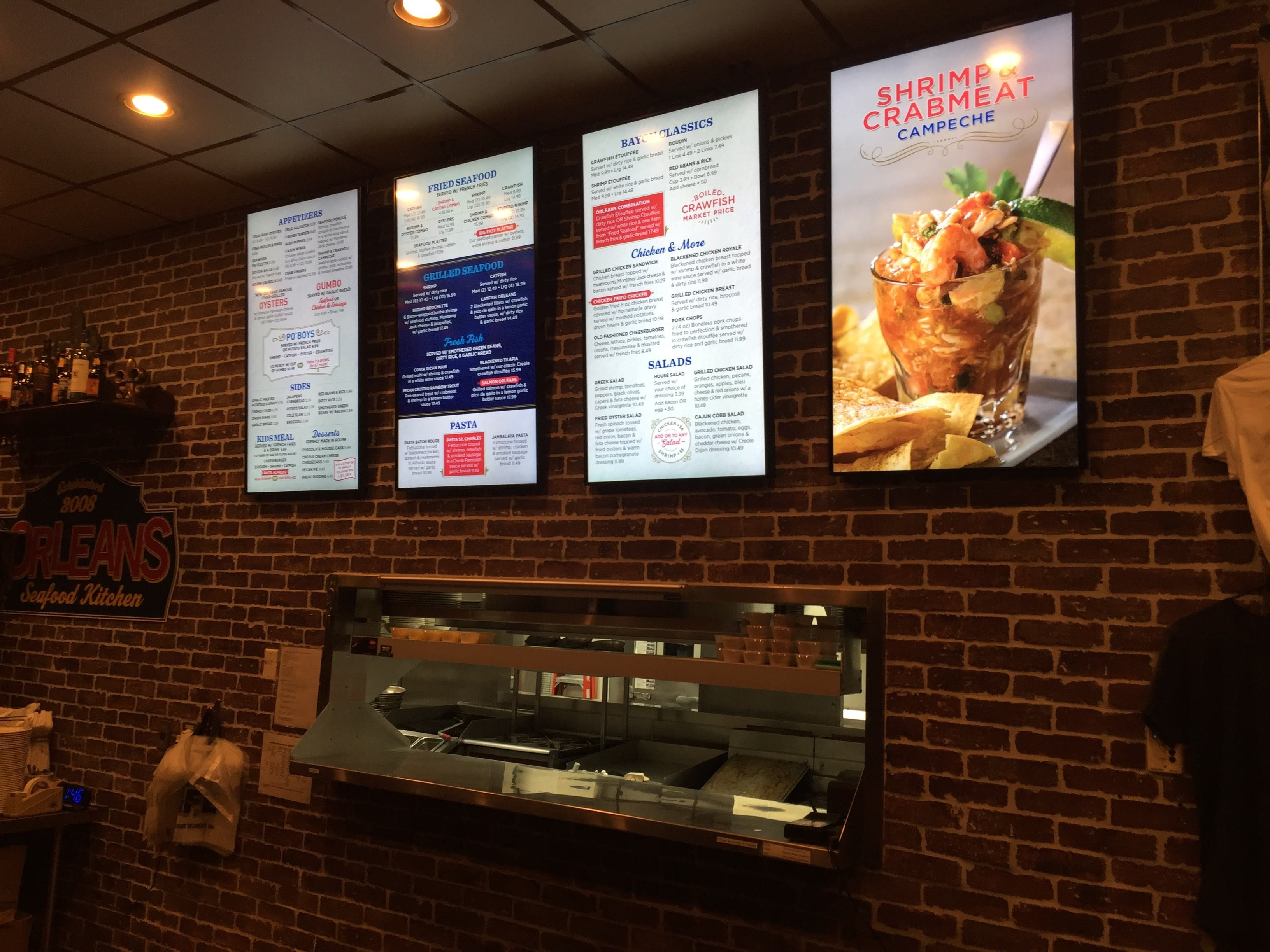 Orleans Kitchen Digital Menu Boards